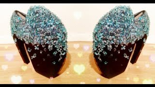 ♡ D.I.Y Alexander McQueen armadillo heels tutorial (Lady Gaga shoes) ♡ - YouTube