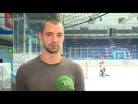 Защитник ХК «Рубин» Дмитрий Лютов после победы над «Челметом» (3:2 ОТ)