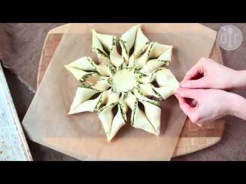 stella di pasta sfoglia alla ricotta e pesto - ricetta