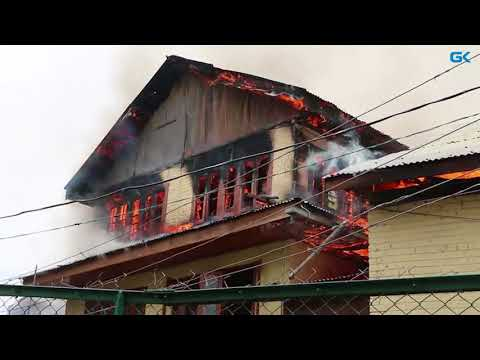 Fire damages several houses in Pulwama village