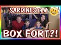Video SARDINES IN A BOX FORT MAZE | HIDE AND SEEK | We Are The Davises