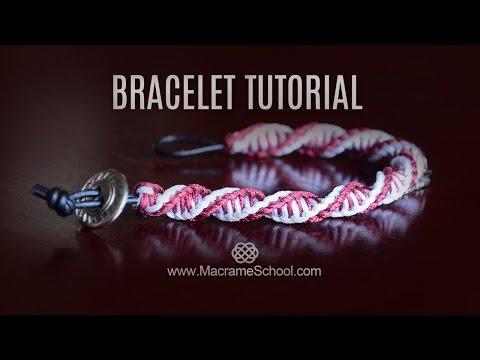 macramè - braccialetto a spirale