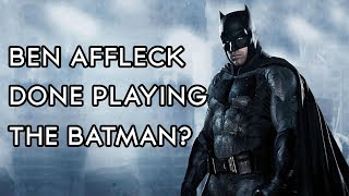 The Hollywood Reporter is reporting that Ben Affleck may be done playing Batman? ↓↓↓ MORE ↓↓↓ ⇨ SUBSCRIBE!