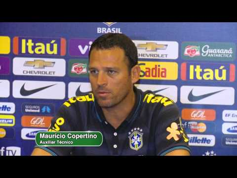 Maurício Copertino treino Seleção Brasileira