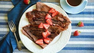Easy Chocolate Crepes - Gemma's Bigger Bolder Baking by Gemma's Bigger Bolder Baking
