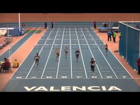 60 m.v. Serie 4. Alevín Femenino. Cto Provincial Individual. Luis Puig 2014