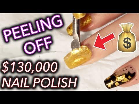 I peeled off $130,000 gold nail polish and kept it