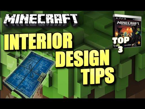 MINECRAFT – PS3 – TOP 3 INTERIOR DESIGN TIPS ( PC / XBOX / PE / PS4 ) TU16 – TU17