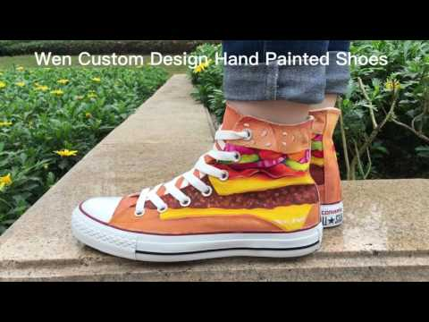 Converse All Star Custom Design Hand Painted Shoes Casual Canvas Sneakers