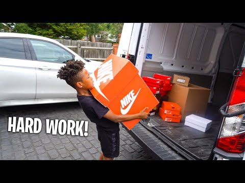 Moving Football Boots To My New Bedroom *HARD WORK!*