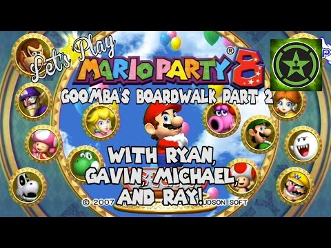 Let's - Ryan, Gavin, Michael, and Ray are back finishing up their trip to Goomba's Booty Boardwalk! Let's Play - Mario Party 8 Goomba's Boardwalk Part 1: http://yout...