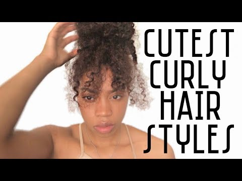 CUTEST CURLY HAIRSTYLES  Sidne Power