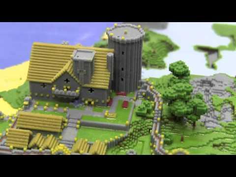 Minecraft Village 3D Print