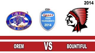 Bountiful (UT) United States  City new picture : 4A Boys Basketball: Orem vs Bountiful Utah High School State Tournament 3/8/14