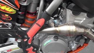 8. 2013 KTM 350 SX-F FMF Factory 4.1 RCT Titanium Megabomb Carbon Tip Full Exhaust