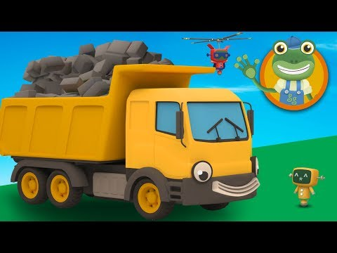 Dylan The Dump Truck Visits Gecko's Garage | Construction Trucks For Children