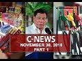 News (November 30, 2018) PART 1