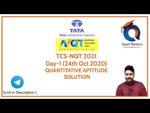 TCS NQT 2020 Slot-1 Quantitative Aptitude Solutions   TCS NQT 2021 Exam Solution
