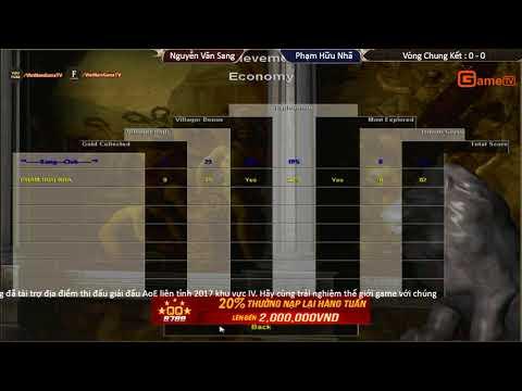 AOE | Liên Tỉnh Trận Chung Kết  Nguyễn Văn Sang  vs Phạm Hữu Nhã  ngày 17 9 2017.BLV:G Kami