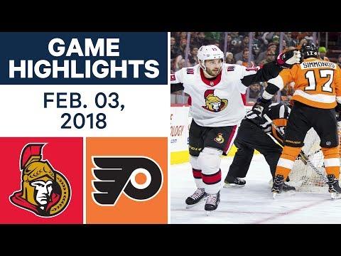 Video: NHL Game Highlights | Senators vs. Flyers - Feb. 03, 2018