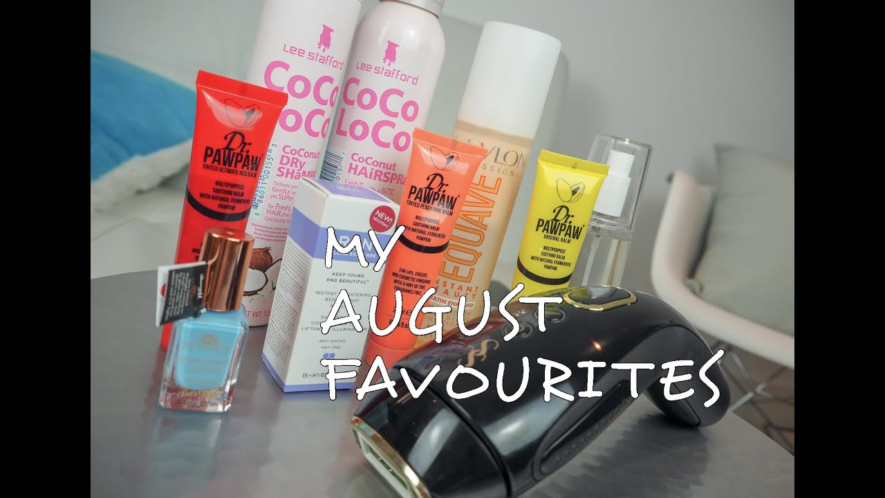 My August Favourites | SAHARASPLASH