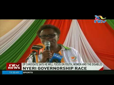 Nyeri DP gubernatorial aspirant says he will focus on youth, women and the disabled