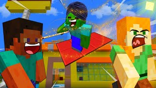 MAGIC Carpet RIDE - MINECRAFT STEVE AND BABY ZOMBIE [64]