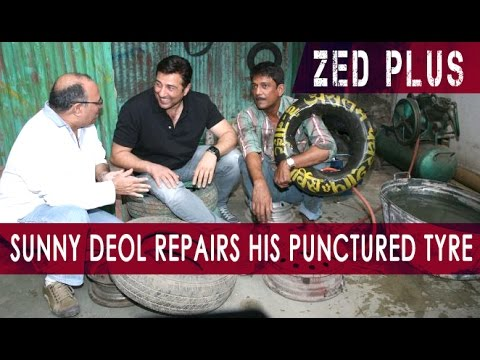 Adil Hussain Repairs Sunny Deol's Punctured Tyre For 'Zed Plus' Promotions