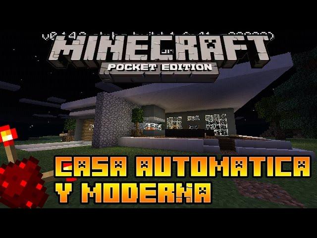Minecraft pocket edition 0 16 0 casa automatica y moderna for Casa moderna en minecraft pe 0 16 0