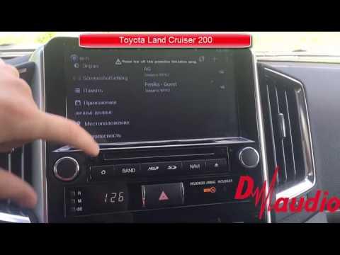 Штатное головное устройство Toyota Prado 150 2010-2013