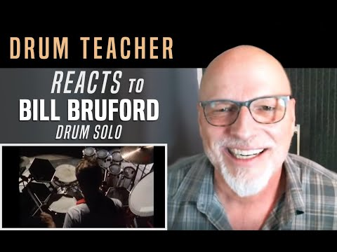 Drum Teacher Reacts to Bill Bruford - Drum Solo