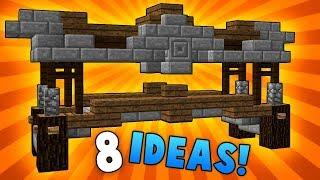 8 LAKE BRIDGE Designs & Ideas! - Minecraft
