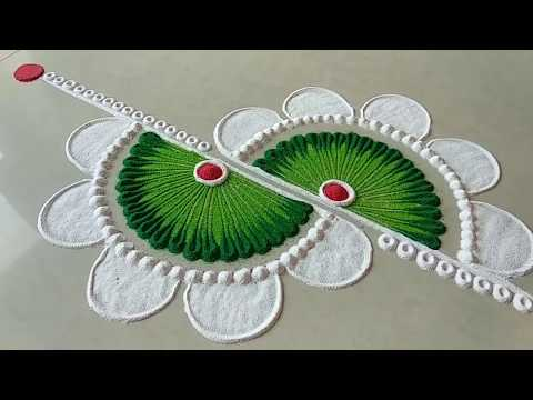 Easy and unique rangoli design for festival