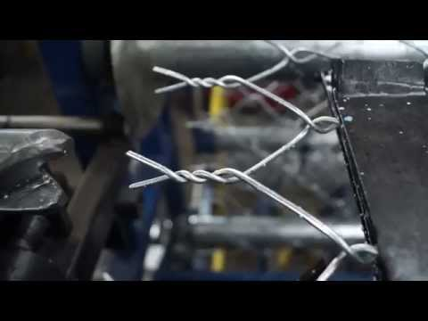 Video of a Fully Automatic Machine Quickly Twisting Wire Into Chain Link