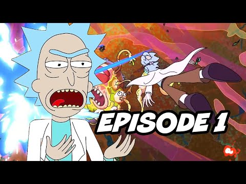 Rick and Morty Season 4 Episode 1 Opening Scene Easter Eggs Breakdown