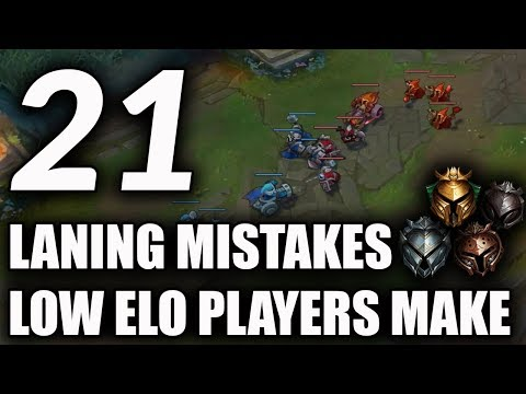 21 Laning Mistakes Most Low Elo Players Make | How To Improve Your Laning Phase For Season 9