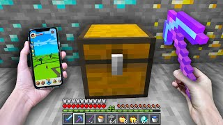 I found a LOOT CHEST that drops RANDOM op loot in Minecraft Earth...
