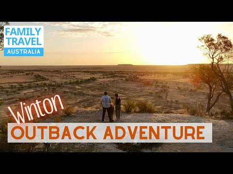 Outback Queensland Winton   Dinosaur Stampede & Opal Miners   Family Road Trip Travel Australia EP57
