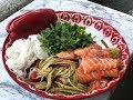 Spicy Papaya Salad With Raw Salmon