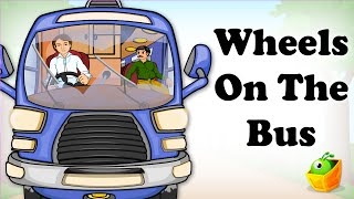 English Nursery Rhymes - Wheels on the Bus - English Cartoon Nursery Rhymes