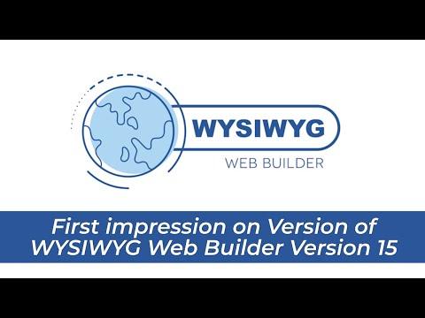 First impression on WYSIWYG Web Builder Version 15