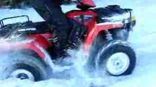 4. polaris sportsman 700 EFI snow clawing