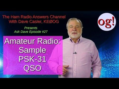 Sample PSK-31 QSO, AD# 27