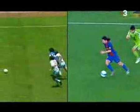 Golazo de Messi (Maradona) al Getafe