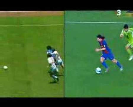 Golazo de Messi (Maradona) al Getafe