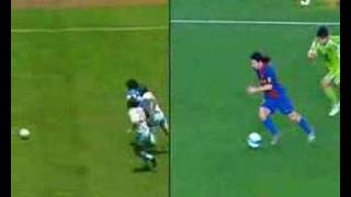 Messi VS Maradona, maradona,ban thang dep,sieu pham