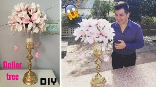 Dollar tree DIY/ Wedding floral centerpiece/ super glam!!