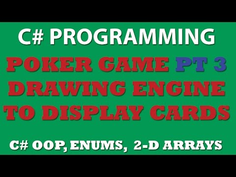 C# Poker Game Pt3: Creating Drawing Engine for desplaying our cards in Windows Console