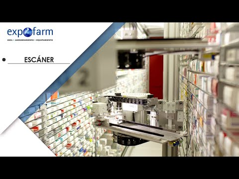 Escaneo de productos del robot de farmacia Apostore