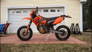 3. KTM 450 EXC SUPERMOTO | BUILD COMPLETE! & FIRST RIDE
